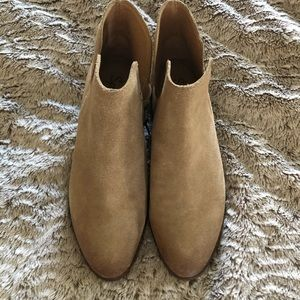 Anthropologie tan booties